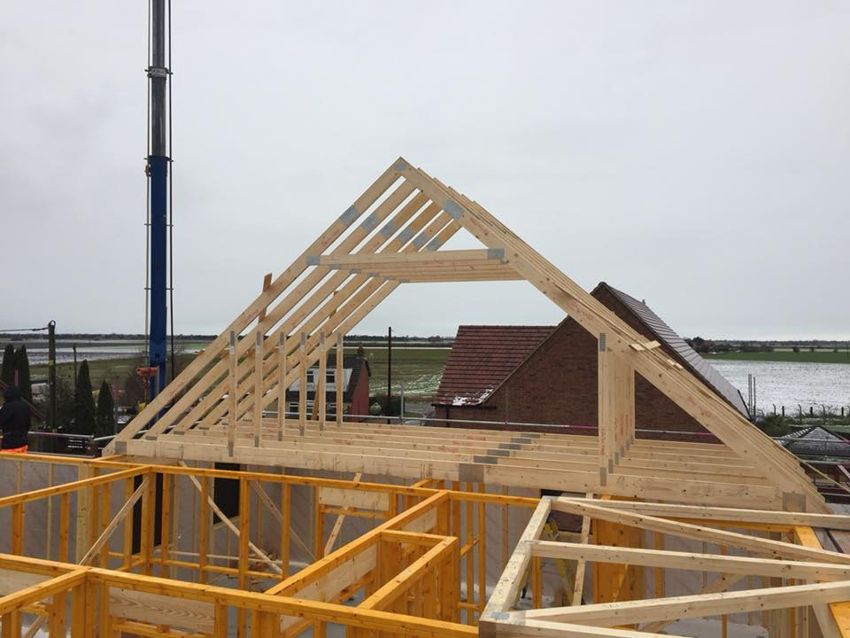 timber frame roof build